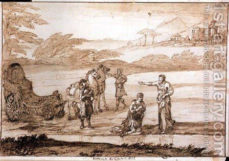 St. Philip Baptising the Eunuch, 1677 by Claude Lorrain (Gellee) - Reproduction Oil Painting