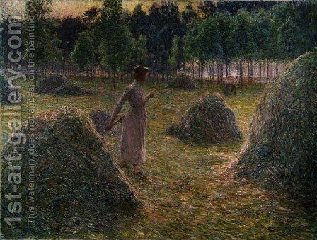 The Gleaners, mid 1890s by Emile Claus - Reproduction Oil Painting