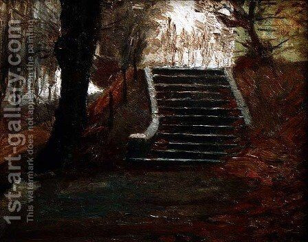 The steps at the Frederiksberg Gardens, Copenhagen by Christian Clausen - Reproduction Oil Painting