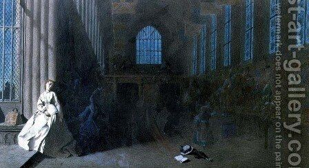 Dreams of the Past, Hampton Court by Adelaide Claxton - Reproduction Oil Painting