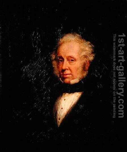 Portrait of Lord Palmerston (1784-1865) by Marshall Claxton - Reproduction Oil Painting