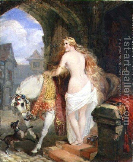 Lady Godiva, 1850 by Marshall Claxton - Reproduction Oil Painting