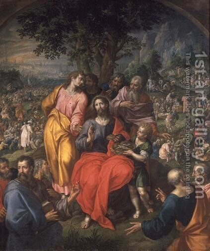The Feeding of the Five Thousand, c.1590 by Hendrick De Clerck - Reproduction Oil Painting