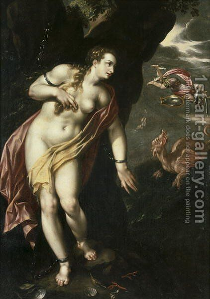Perseus and Andromeda, c.1600 by Hendrick De Clerck - Reproduction Oil Painting