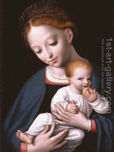 Virgin and Child by Cornelis van Cleve - Reproduction Oil Painting