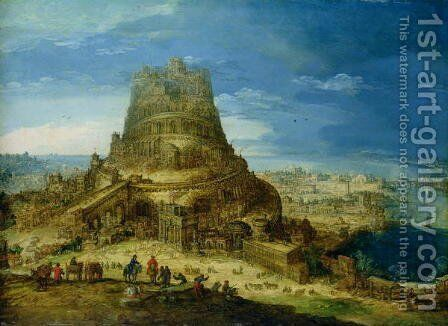 The Building of the Tower of Babel (2) by Hendrick van Cleve - Reproduction Oil Painting
