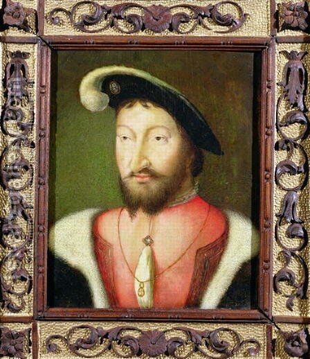 Francis I by (after) Cleve, Joos van - Reproduction Oil Painting