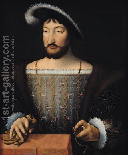 Francois I (1497-1547) by (attr. to) Cleve, Joos van - Reproduction Oil Painting