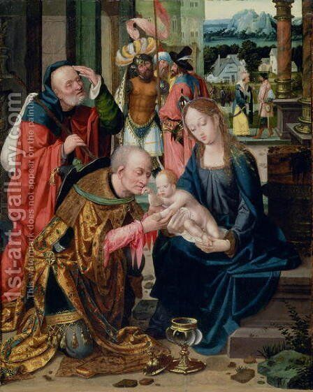 The Adoration of the Kings by Anonymous Artist - Reproduction Oil Painting