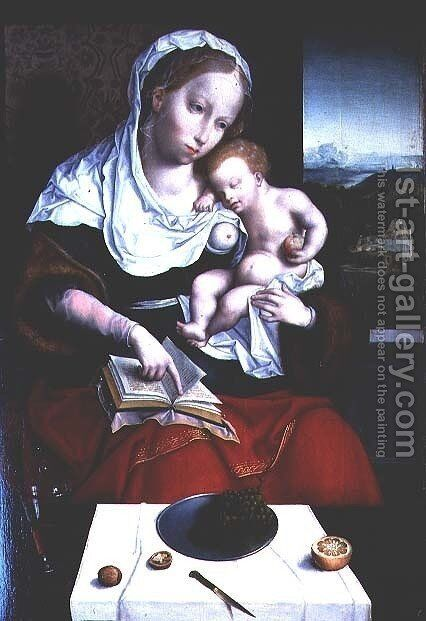 Madonna and Child by Anonymous Artist - Reproduction Oil Painting