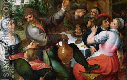 Peasant Feast, 1566 by Marten Van Cleve - Reproduction Oil Painting