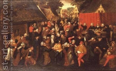 A village wedding by (circle of) Cleve, Marten van - Reproduction Oil Painting