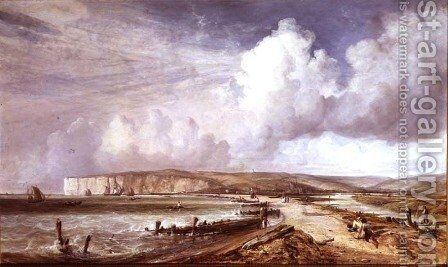 South Coast of England by Alfred Clint - Reproduction Oil Painting