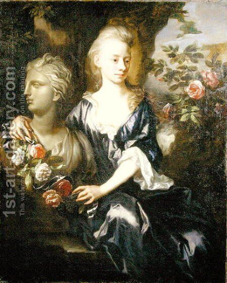 Portrait of Isabella Willis (d.1727) c.1690 by Johann Closterman - Reproduction Oil Painting