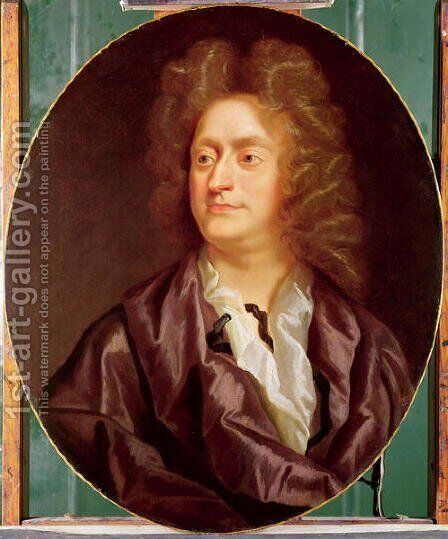 Portrait of Henry Purcell, 1695 by Johann Closterman - Reproduction Oil Painting