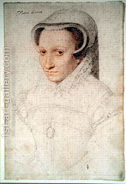 Madeleine de Luxembourg (c.1525-.), wife of Georges de La Tremouille, baron de Royan, c.1563 by (studio of) Clouet - Reproduction Oil Painting