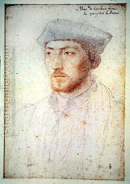 Philippe de Cosse, eveque de Coutances (1510-48) by (studio of) Clouet - Reproduction Oil Painting