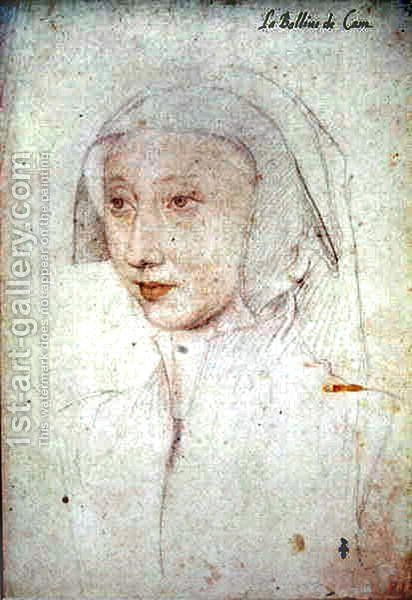 Aimee Mottier de La Fayette (1490-c.1565), femme de Francois de Silly, bailli de Caen, c.1523 by (studio of) Clouet - Reproduction Oil Painting