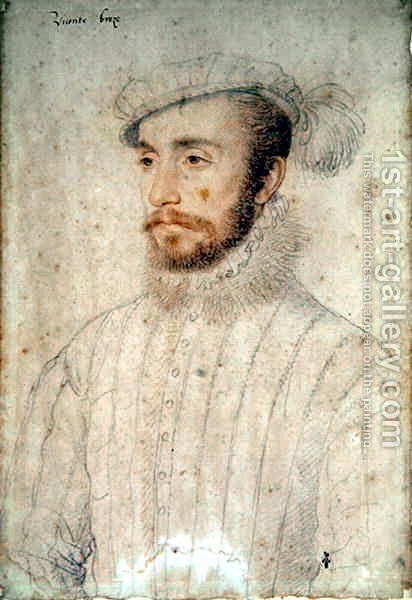 Philippe de Maille, fils de Guy de Maille, vicomte de Breze? or maybe his brother (c.1515-53), c.1550 by (studio of) Clouet - Reproduction Oil Painting