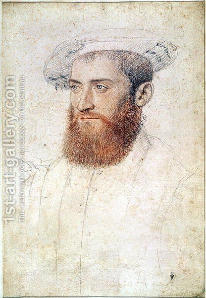 Portrait of an unknown man, c.1547 by (studio of) Clouet - Reproduction Oil Painting