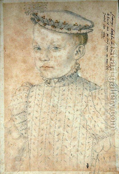 The Dauphin Francois de France (1544-60) future King Francois II, 1552 by (studio of) Clouet - Reproduction Oil Painting