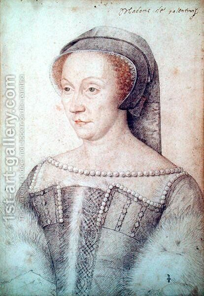 Diane de Poitiers (1499-1566) Duchess of Valentinois by (studio of) Clouet - Reproduction Oil Painting
