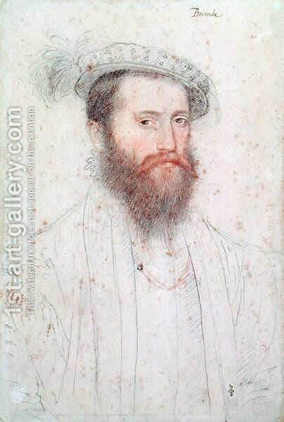 Portrait of Pierre de Cluys, Lord of Briande, c.1551 by (studio of) Clouet - Reproduction Oil Painting
