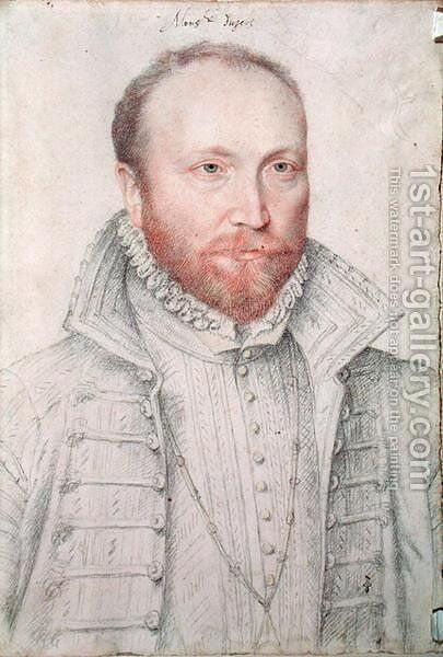 Portrait of Antoine de Crussol (1525-73) Duc d'Uzes by (studio of) Clouet - Reproduction Oil Painting
