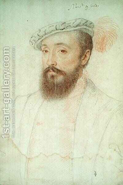 Bertrand Raimbaud V de Simiane (1513-88) Baron de Gordes, c.1550 by (studio of) Clouet - Reproduction Oil Painting