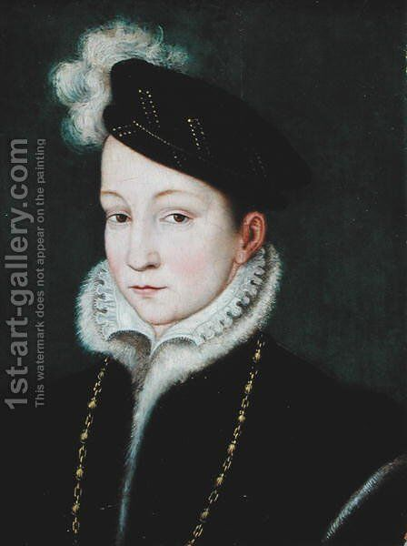 Francois II (1544-60) c.1553 by (after) Clouet, Francois - Reproduction Oil Painting