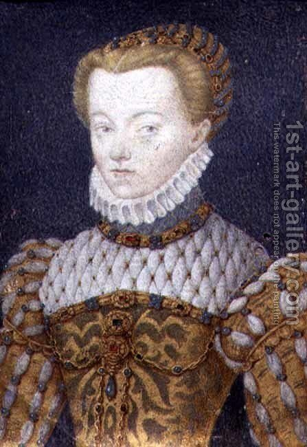 Elizabeth of Austria, Queen of France, c.1570 by (circle of) Clouet, Francois - Reproduction Oil Painting