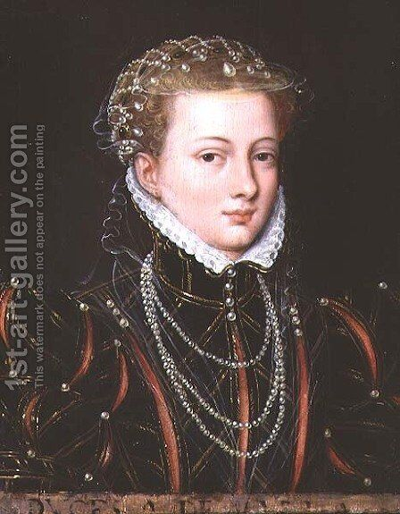 Portrait of Margaret, Duchess of Parma (1522-86), Regent of the Netherlands 1559-67 by (circle of) Clouet, Francois - Reproduction Oil Painting