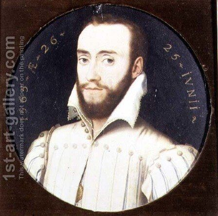 Portrait of a Bearded Gentleman, Aged 26, 1565 by (circle of) Clouet, Francois - Reproduction Oil Painting