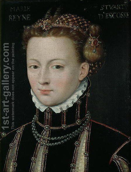 Mary Stuart (1542-87) by Anonymous Artist - Reproduction Oil Painting