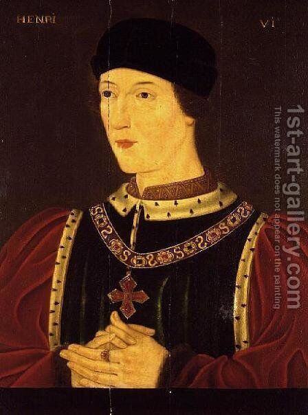 Henry VI of England (1421-71) by Anonymous Artist - Reproduction Oil Painting