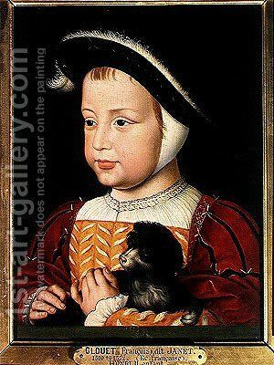 Henri II (1519-59) as a child, c.1523 by Jean Clouet - Reproduction Oil Painting