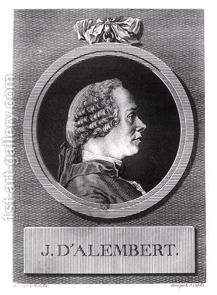 Jean le Rond d'Alembert (1717-1783) by Charles-Nicolas II Cochin - Reproduction Oil Painting