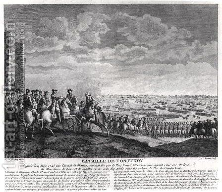 The Battle of Fontenoy, 11th May 1745, 1828 by Charles-Nicolas II Cochin - Reproduction Oil Painting