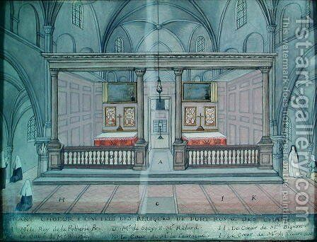 View of the Chancel and Altar, from 'L'Abbaye de Port-Royal', c.1710 by (after) Cochin, Louise Madelaine - Reproduction Oil Painting