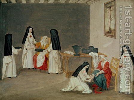 Caring for the Sick, from 'L'Abbaye de Port-Royal', c.1710 by (after) Cochin, Louise Madelaine - Reproduction Oil Painting