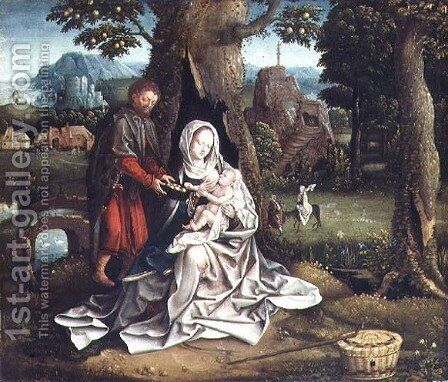 The Rest on the Flight into Egypt by Jan Wellens de Cock - Reproduction Oil Painting