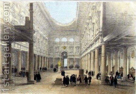 Design for the Royal Exchange-interior, looking west, 1840 by Charles Robert Cockerell - Reproduction Oil Painting