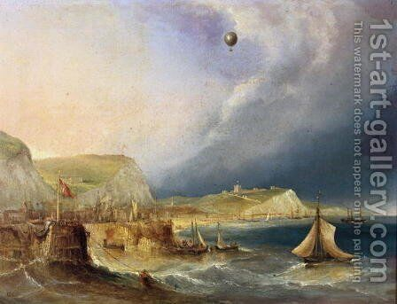 The First Balloon Crossing, 7th January 1785 by E.W. Cocks - Reproduction Oil Painting
