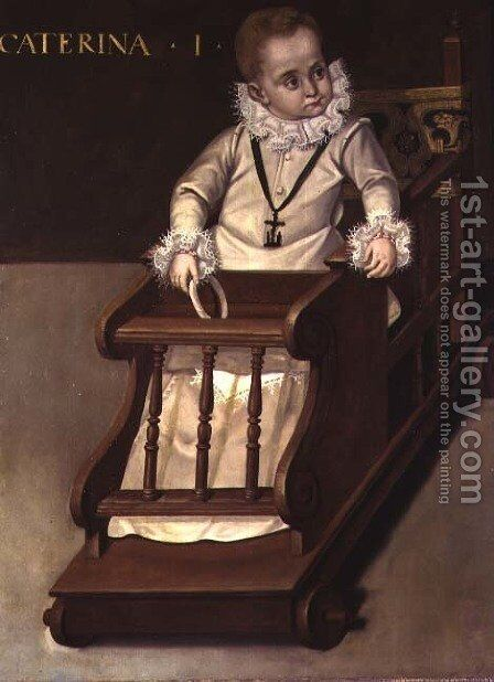 Portrait of a child called Caterina, aged one by Claudio Coello - Reproduction Oil Painting