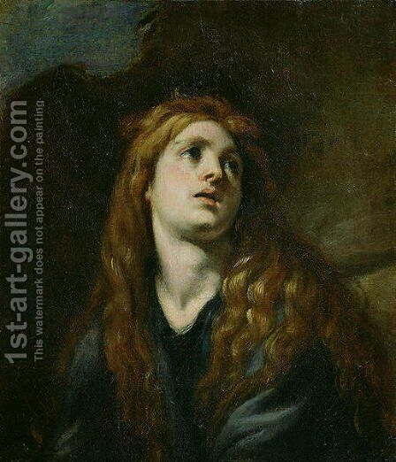 The Penitent Magdalene by Claudio Coello - Reproduction Oil Painting