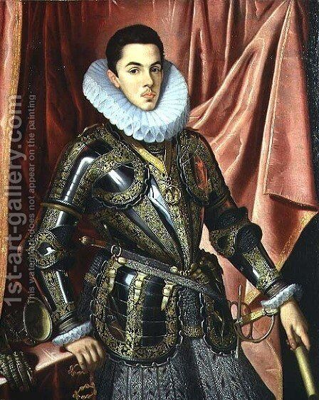 Portrait of a Young Man in Armour by Claudio Coello - Reproduction Oil Painting
