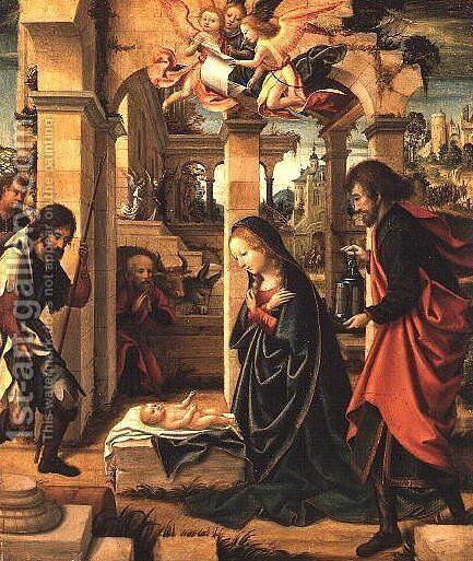 Adoration of the Shepherds by (attr. to) Coffermans, Marcellus - Reproduction Oil Painting