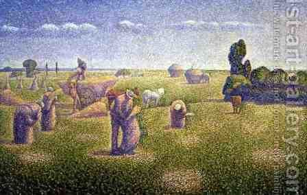 The Harvesters, 1892 by Charles Angrand - Reproduction Oil Painting