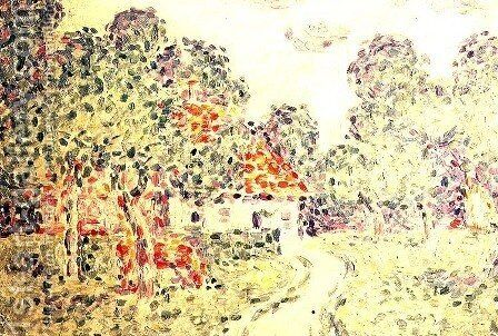 The Little Farm, 1890 by Charles Angrand - Reproduction Oil Painting