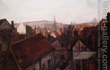 The Rooftops of Tonnerre, 1904 by Emile Bernard - Reproduction Oil Painting